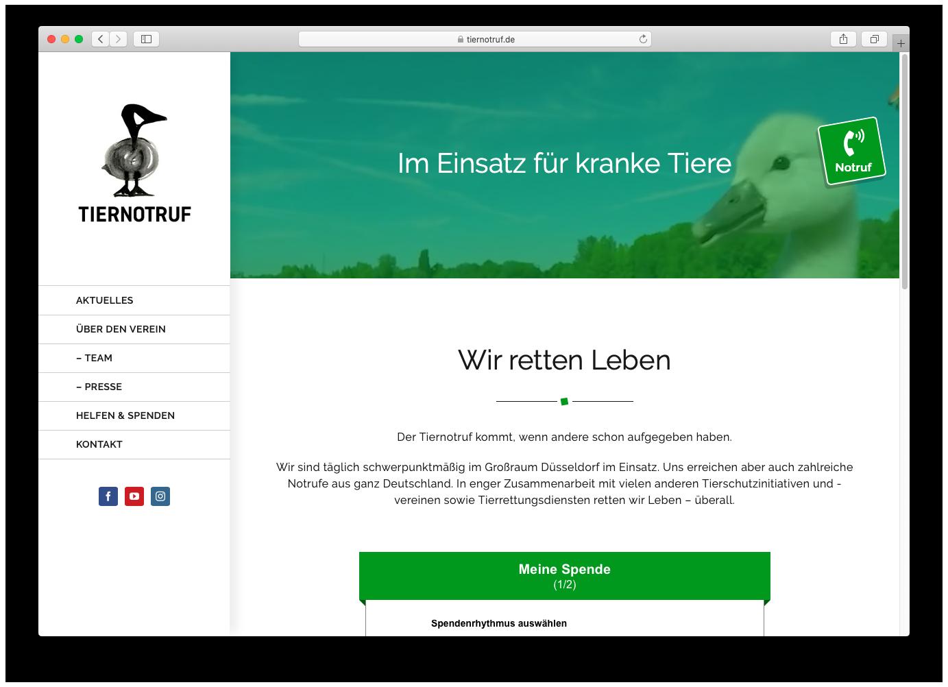 Tiernotruf e.V. neue Webseite